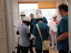 看護師が司令塔となり、職員に指示